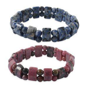 Jewelry - Rhodonite and Sodalite Gemstone Bracelets 2 NWT